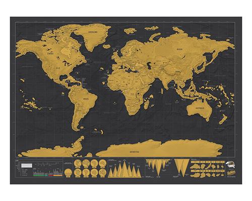 kaparós térkép Kaparós térkép   Világ Deluxe (S, M)   feketedesign.hu